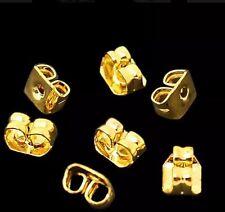 UK 12 Pairs (24 Backs) 18k GOLD Plated Earring Backs Stoppers Butterfly Backs