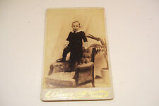 Victorian Cabinet Photo Card Young Boy Lockport New York Ranney Studio