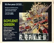 SOYLENT GREEN Movie POSTER 22x28 Half Sheet Charlton Heston Leigh Taylor-Young