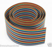 New 5m IDC Standard 40 WAY 1.8'' Multi-Color Flat Ribbon Cable Wire Connector