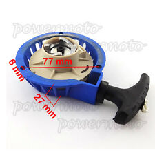 Blue Aluminum Pull Start Starter Part For 47 49cc Mini Pocket Dirt Bike ATV Quad