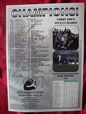 Corby Town Evo-Stik Southern League Premier champions 2015 - souvenir print