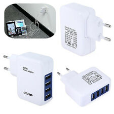 Multi 4 Port USB Charger Adapter Travel Wall AC Power Quick Charging EU Plug New