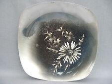 A fabulous and rare Modernist design WMF silver plated Flower design Plate
