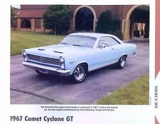 1967 Mercury Comet Cyclone GT 289 390 ci Info/Specs/photo/production 11x8