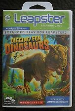 Leapster 1 & 2 DIGGING FOR DINOSAURS Science Adventure Learning Game Leap Frog