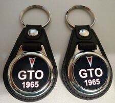 1965 PONTIAC GTO KEYCHAINS 2 PACK CLASSIC MUSCLE CAR FOB LOGO BLACK