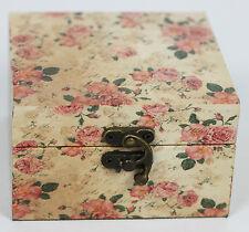 Caja de Almacenamiento Decorativa floral vintage