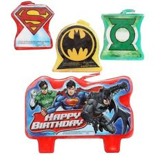 Marvel Justice League Birthday Party Candle Set 4 Pcs