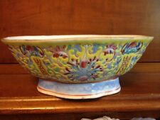 Rare 19th Century Chinese Porcelain Enamel Guangxu Mark Oval Bowl Famille Rose