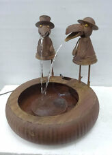"""Water fountain,Metal,two birds,size:18D""""×17""""H,graceful metal fountain with sound"""