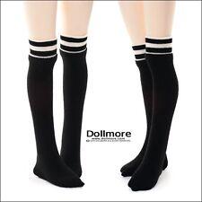 Dollmore 1/4 BJD doll stockings MSD - Line Knee socks(Black)
