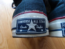Vintage Converse Chuck Taylor Shoes Blue Label Made in USA from ABC-TV Chucks