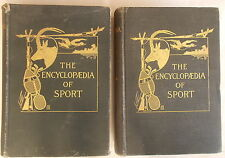 1902 ENCYCLOPAEDIA OF SPORT 2 VOL Peek Aflalo FOX DUCK HUNTING GOLF encyclopedia