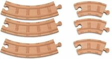 6pc Large & Short CURVED Wooden EXPANSION TRACK PACK NEW Thomas Tank Railway