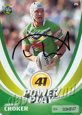 ✺Signed✺ 2013 CANBERRA RAIDERS NRL Card JARROD CROKER Power Play