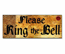 PLEASE RING THE BELL vintage old Sign Plaque front House door wall gate outdoor