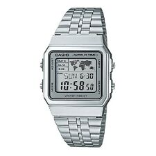 Casio A500WA-7 Vintage Classic Silver-Black Digital Watch Retail Box Included