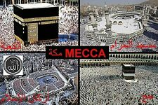 SOUVENIR FRIDGE MAGNET of MECCA HAJ SAUDI ARABIA