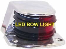 COMBINATION ZAMAK NAVIGATION GREEN & RED LED BOW LIGHT FOR SMALL BOAT SL52093