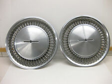 1980 1981 1982 FORD THUNDERBIRD FULL HUBCAPS UNUSUAL & GOOD CONDITION