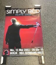 Simply Red -  Original Concert Poster From Germany Berlin 2003