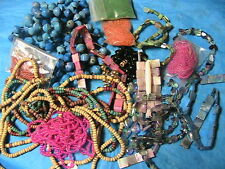 LARGE LOT of BEADS~SEED~SQUARE~STONES~GEMS~DIMENSIONAL doll~jewelry~arts VARIETY