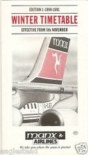 Airline Timetable - Manx - 05/11/90 - Ed 1 - G-OJET Tail cover - S