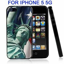 Statue Of Liberity With USA Flag For Iphone5 5G Case Cover