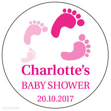 35x Personalised Baby Shower Stickers Birth Thank You Envelope Seals -N220