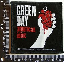 GENUINE GREEN DAY EMBROIDERED JACKET PATCH ROCK BAND WOVEN SEW-ON CLOTH BADGE