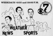 1971 WSAU NEWS AD~DAVID O'BRIEN~WEATHER~SPORTS~ in WAUSAU,WISCONSIN