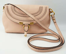 Chloe Marcie Small Mini Blush Nude Pink Leather Pochette Shoulder Bag Crossbody