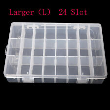 F08870 Transparent Plastic Detachable 24 Slots Storage Box Case For Nail Art Tip