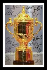 NEW ZEALAND ALL BLACKS 2011 RUGBY WORLD CUP SIGNED & FRAMED PP POSTER PHOTO