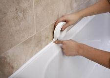 SUPADEC BATH AND WALL SEALING STRIP 38MM X 3.35M NEW WHITE SINK BASIN EDGE TRIM