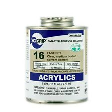 SCIGRIP Weld-On #16 Clear Acrylic Glue 473ml Cement Plastic All type Made in USA