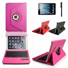 leather Case Cover with silicone bluetooth keyboard for Ipad 2 3 4 Waterproof P