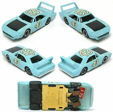 1972 TYCO Pro Petty Dodge Charger HO Slot Car LIGHT Blue SUPERBIRD #43 8833 RARE