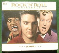 Rock n Roll Originals Elvis Ray Charles Coasters + Icons New Sealed Mint CD x 2