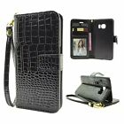 Luxury Magnetic Flip Crocodile Leather Wallet Case Card Cover For Samsung Phone