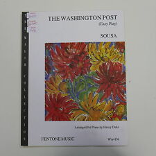 piano SOUSA washington post , fentone easy play arr / henry duke