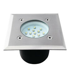 Recessed floor ligths LED lamp GORDO 0.7W SMD angular Stainless steel white