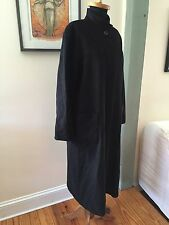 Pierrette Switzerland Saks Fifth Long Wool Cashmere Superangora Black Coat 4