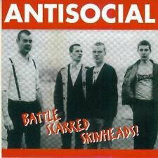 Battle Scarred Skinheads-  Antisocial CD wie NEU!!! UK 1995 + Sticker