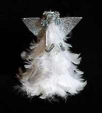 Fabulous Feather Tree Christmas Angel Tree Topper w/ Real Feathers - NWT
