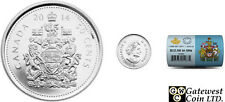 Roll of 2014 BU Canada 50ct Face Value $12.50 in special wrap (13854)