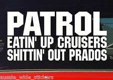 """New 200mm Funny 4x4 offroad ute Stickers """"PATROL EATIN UP"""""""