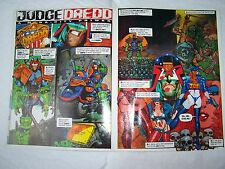 2000AD JUDGE DREDD POSTER PROG FREEBIE IN EXCELLENT CONDITION CHEAP PRICE