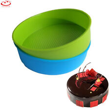 "10"" Silicone Round Cake Mold Pan Muffin Bread Pizza Pastry Bakeware Tray Mould"